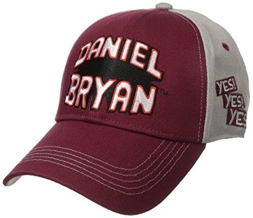 WWE Mens Superstar Daniel Bryan Adjustable Cotton Baseball Cap, Multi, One Size