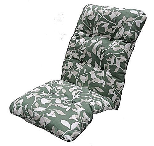 replacement deluxe thick high back garden chair thick cushion pad ashley green - Garden Furniture Cushions Uk
