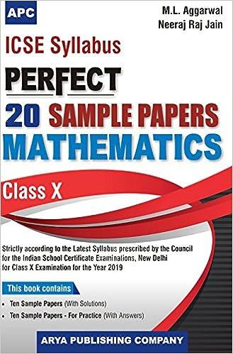 Amazon in: Buy ICSE Perfect 20 Sample Papers Mathematics Class-X