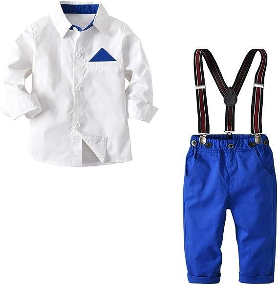KIDsstz - Conjunto de Ropa para bebé, Camiseta de Manga Larga para niño, Camisa Blanca de Manga Larga Blanco 100 cm: Amazon.es: Ropa y accesorios