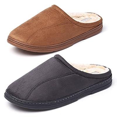 KushyShoo Men's Indoor Outdoor Cozy Clog Slippers