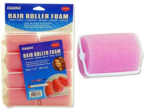 HAIR ROLLER FOAM 8PC/SET 1.5'' ASST , Case of 144