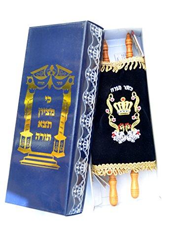 (Amazing Judaica Jewis Sefer Torah Scroll Book Bible Hebrew&velvet Cover Israel)
