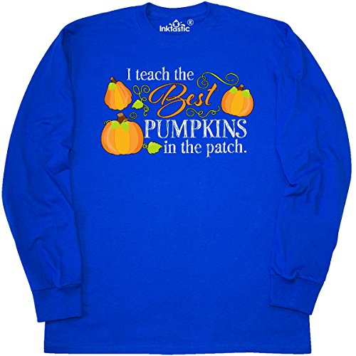 Inktastic - I Teach the Best Pumpkins in Long Sleeve T-Shirt X-Large Royal Blue