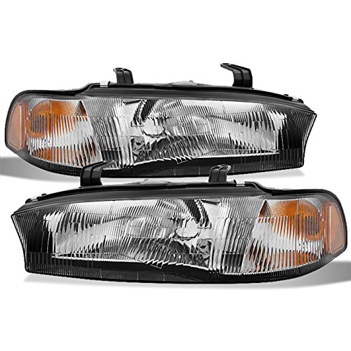 For 1995-1997 Subaru Legacy L GT LS Outback Postal Model Clear Headlights Driver Left + Passenger Right Side Pair