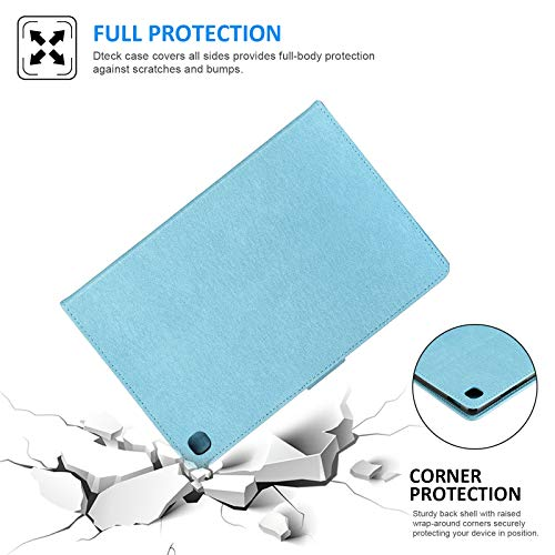 Dteck Galaxy Tab A 10.1 Case 2019 Tablet SM-T510/T515, [3D Embossed Butterfly] Slim Leather Folio Stand Cover with Magnetic Clasp for Samsung Galaxy Tab A 10.1 Inch SM-T510, Blue