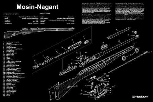 osin Nagant Gunsmith & Armorer's Large Exploded Poster 24