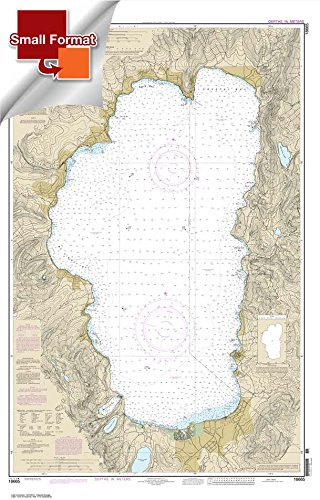 NOAA Chart 18665: Lake Tahoe 21.00 x 32.86 (SMALL FORMAT WATERPROOF) by Paradise Cay Publications