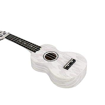 Cuerdas Juguete Guitarra Pequeña Ukelele Madera Sapele Abeto De 4 3lKJT1Fc