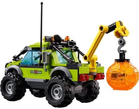 LEGO City Volcano Explorers Building Set, Sturdy Volcano Exploration Truck with Large Tires, Space for Boulder in the Back,Drill that Moves Up and Down, Multicolor