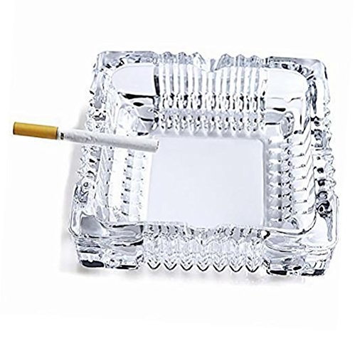 Glass Ashtray Cigarette Crystal Collectible Ash Holder for Smokers, Desktop Smoking Ash Tray for Home Office Indoor Outdoor Decorative (1 Piece /Random shipments)