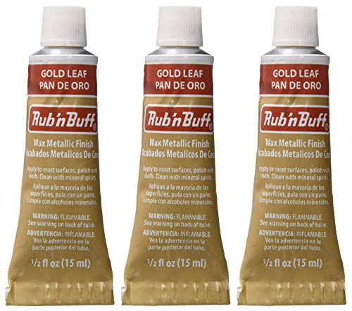 Metallic Buff Finish - Rub 'n Buff The Original Wax Metallic Finish gold leaf [PACK OF 3 ]