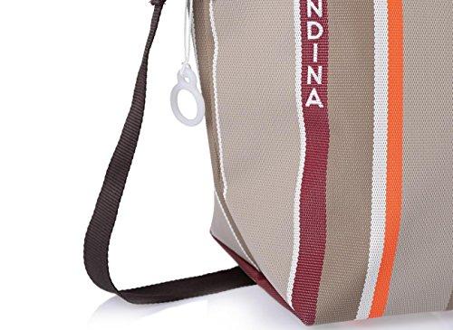 Borsone donna a spalla o a tracolla con chiusura zip e tasca interna da viaggio, Waterview Faraglione
