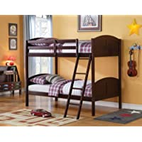 Acme 37010 Toshi Twin/Twin Bunk Bed, Dark Cherry Finish
