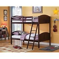 Acme 37010 Toshi Twin/Twin Bunk Bed, Dark Cherry Finish
