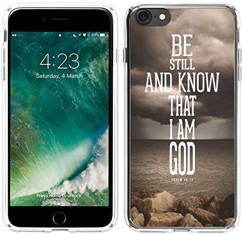 6S Plus Case Christian Sayings,Hungo Silicone Protective Cover Case Compatible with iPhone 6 Plus/6S Plus Bible Verse Psalm Be Still and Know That I Am God Christian Themes (Girly Iphone Quotes Plus Case 6)