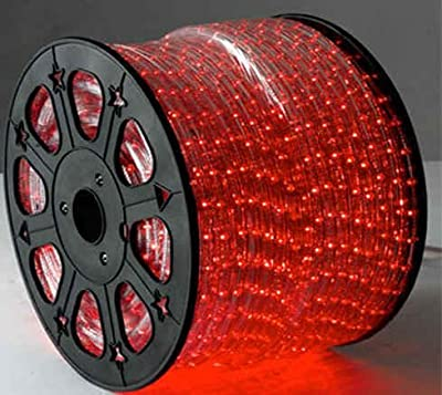 RED 12 Volts DC LED Rope Lights Auto Lighting 15 Meters(49.2 Feet)