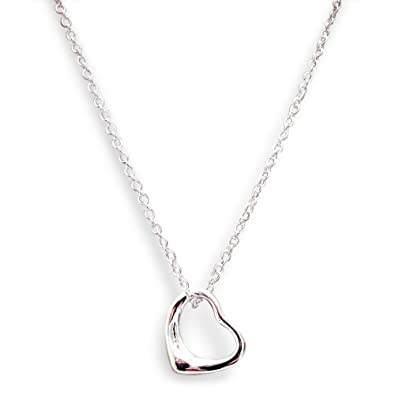 925 stamped sterling silver plate floating heart pendant necklace in 925 stamped sterling silver plate floating heart pendant necklace in gift box aloadofball