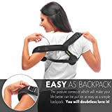 Andego Back Posture Corrector for Women and Men, Effective and Comfortable Posture Brace for Slouching and Hunching, Discreet Design, Clavicle Support for Medical Problems and Injury Rehab