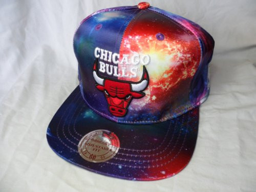 Galleon - Mitchell And Ness Chicago Bulls Galaxy Space Print Cap Hat  Snapback Supreme Obey 23b80ada3a6