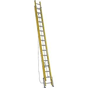 Extension Ladder, Fiberglass, 32 ft., IAA