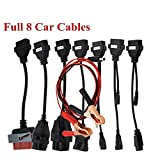VECANCE Automotive Adapter Diagnostic Connector Cables For OBD2 OBDII Cars Diagnostic Interface Tool Full Set 8 Car Cables For VD DS150E CDP TCS Pro Cables
