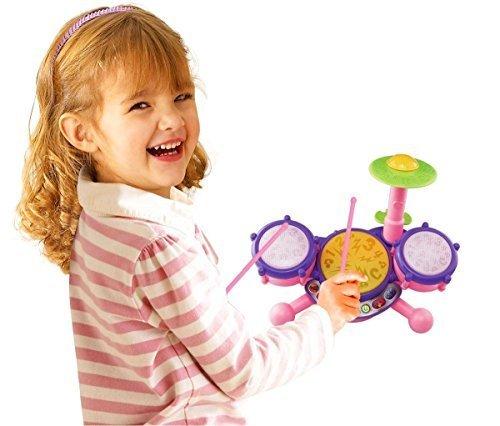 Vtech KidiBeats Pink Exclusive Drum Set Kids Music Girl T...