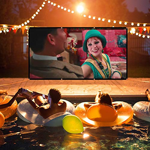LOVAC 120 Inch Projector Screen,4k Rear Projection Screen 16:9 HD,Foldable Portable Anti-Crease Outdoor Movie Screen for Home Theater (Thin) Photo #6