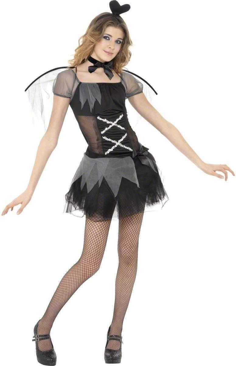 Desconocido Disfraz de ángel negro para adolescente: Amazon.es ...