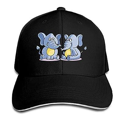 Cute-Elephant Custom Sandwich Peaked Cap Unisex Baseball Hat