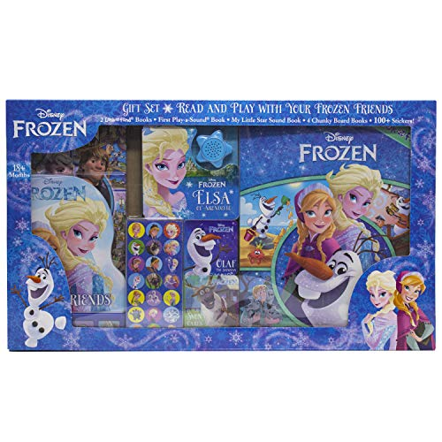 Disney Frozen - Read and Play Gift Set - 8-Books and Over 100 Stickers - PI Kids