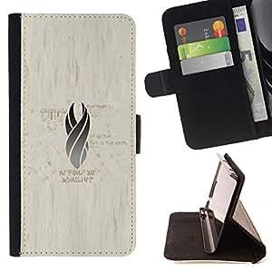 Momo Phone Case / Flip Funda de Cuero Case Cover - Gray Llama;;;;;;;; - Huawei Ascend P8 (Not for P8 Lite)