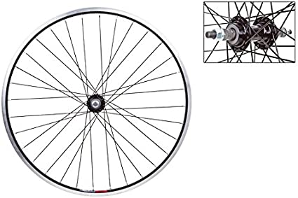 """WHEEL MASTER WEI 519 6-BOLT DISC BOLTED 29/""""  ALLOY BLACK FRONT WHEEL"""