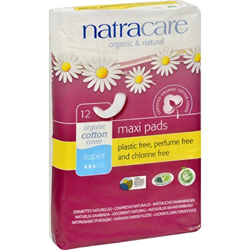 Natracare Natural Maxi Pads Super - 12 Pack (Pack of 2)