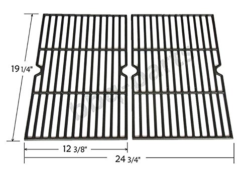 Hongso PCB152 Universal Gas Grill Grate Cast Iron Cooking Grid Replacement, Sold As a Set of 2 by Hongso