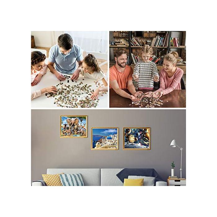 51GuPysLSCL Calidad premium: hecho de papel grueso y resistente, cada pieza del rompecabezas se corta con precisión, lo que garantiza la estabilidad de los rompecabezas. Impreso en papel grueso con una prensa de impresión digital de alta gama garantiza: precisión del color, imágenes duraderas. Hazlo memorable --- Construir este rompecabezas de 1000 piezas juntos puede convertirse en una nueva tradición familiar, rompecabezas de 1000 piezas o enmarcarlo y convertir esta pieza en una obra de arte permanente para agregar a la decoración de tu casa. Promueve la coordinación mano-ojo --- Nuestro rompecabezas de piso calma la mente e induce un estado de meditación creativa. Diseñado para ayudar a las personas a desarrollar sólidas habilidades para la resolución de problemas, ayudándoles en el desarrollo de la coordinación ojo-mano.
