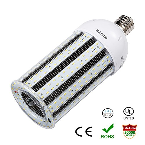 LED Corn Light Bulb100W E39 Large Mogul Screw Base UL Listed 12000Lm 5000K Daylight Replacement 400w Metal Halide HID CFL Hps,for High Bay Low Bay Warehouse Garage Parking Lot Street ()