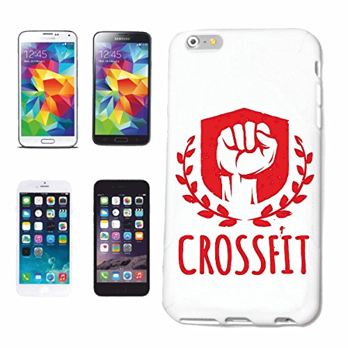 "cas de téléphone iPhone 6S ""Musculation CROSSFIT BODYBUILDING GYM GYM muskelaufbau SUPPLEMENTS WEIGHTLIFTING BODYBUILDER"" Hard Case Cover Téléphone Covers Smart Cover pour Apple iPhone en blanc"
