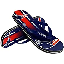 FC-Forever Collectibles NFL Football Unisex Gradient Big Logo Beach Summer Flip Flop Sandals - Pick Team (New England Patriots, Small)