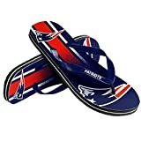 NFL Football Unisex Gradient Big Logo Beach Summer Flip Flop Sandals - Pick Team (New England Patriots, Medium)
