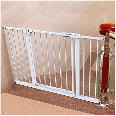 Baby Gate Baby Safety Pet Gates For Stairs Fireplace Extra Wide Expandable Fence With Door Pressure Mount Play Yard White Metal Plastic Auto Closed Guardrail Buy Online At Best Price In Uae