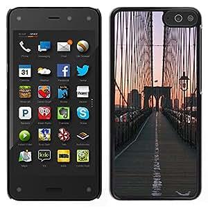 LECELL--Funda protectora / Cubierta / Piel For Amazon Fire Phone -- Puente de la salida del sol Vista de la ciudad --