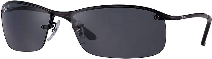 Ray-Ban Mens RB3183 Sunglasses (Black Frame, Solid Black Lens): Amazon.es: Ropa y accesorios