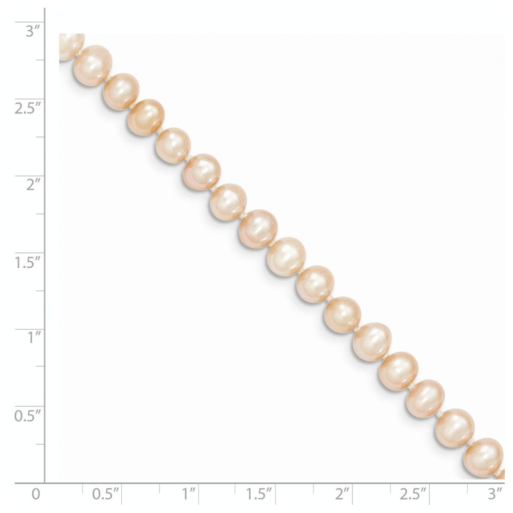 Mia Diamonds 14k Yellow Gold Gold 5-6mm Pink Egg Shape Fresh Water Cultured Pearl Necklace