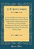 Amazon / Forgotten Books: Lovett s Special Catalogue of Roses, Geraniums, Cannas Palms Carnations, Chrysanthemums Gladiolus, Lilies, Hardy Herbaceous Plants, and Other Summer Flowering Plants and Bulbs, 1899 Classic Reprint (J. T. Lovett Company)