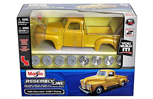 HCK 1950 Chevy 3100 Classic Pickup - Assembly Custom Model Kit Diecast Toy Cars 1:24 Scale - Metal Classic Model Kit
