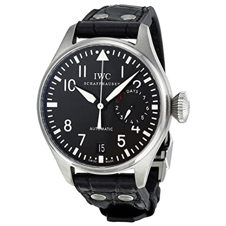 IWC Big Pilot Black Dial Leather Mens Watch IW500901