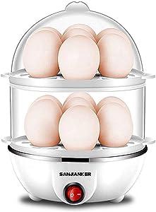 Egg Cooker,350W Electric Egg Maker,White Egg Steamer,Egg Boiler,14 Egg Capacity Egg Cooker With Automatic Shut Off