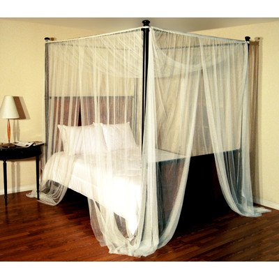 Epoch Hometex Palace Four-Poster Bed Canopy Ecru ()