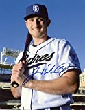 Signed Middlebrooks Photograph - W bat Deigo 8x10 W coa - Autographed MLB Photos